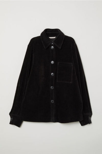 Camisa preta com botões, H&M, 49,99€