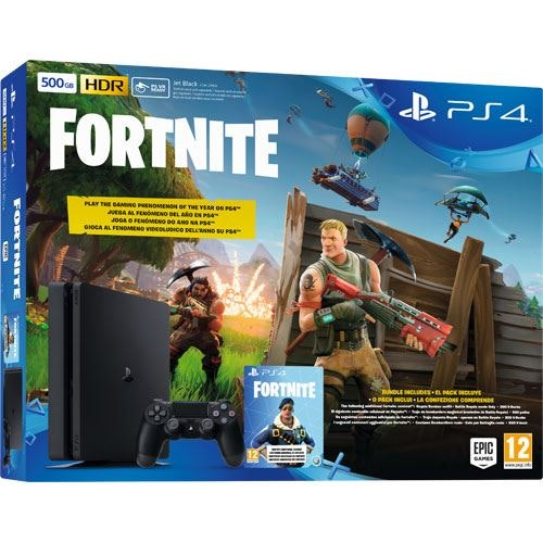 Consola Sony PS4 500GB Black + Fortnite, Fnac, 376,09€