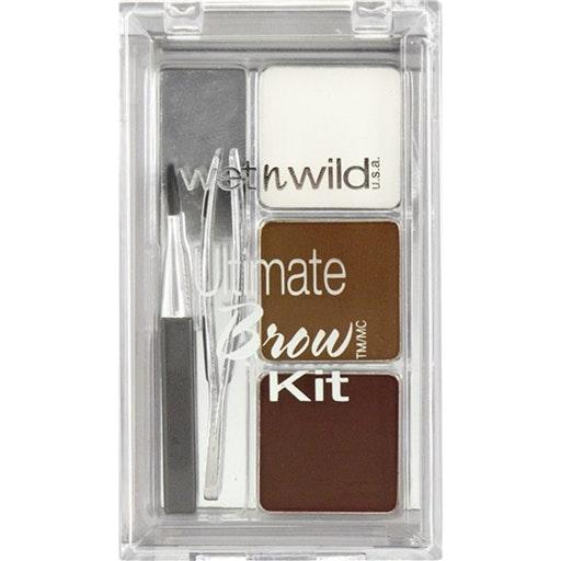 Paleta de maquilhagem de sobrancelhas Wet N Wild, 3,99€ no Continente | O conjunto inclui uma cera suave que molda as sobrancelhas, dois pós de secagem rápida para definição, um pincel inclinado para uma aplicação fácil e mini pinças.