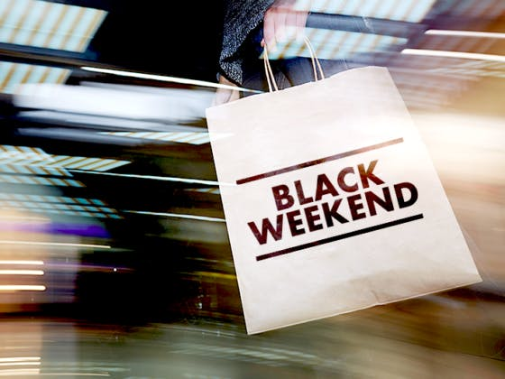 Black Weekend no seu centro.