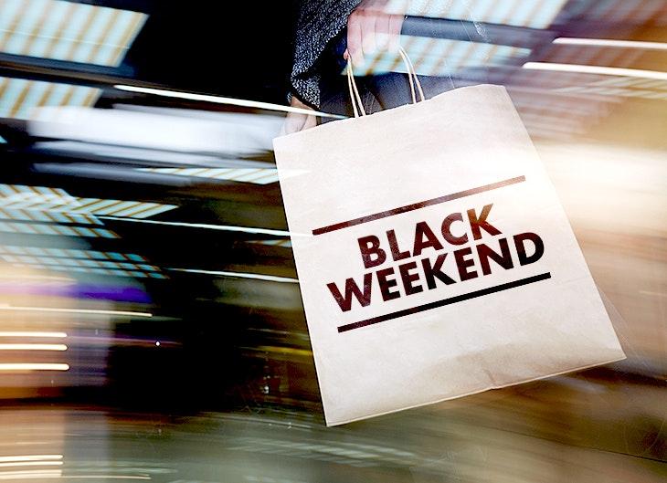 Black Weekend no seu centro.