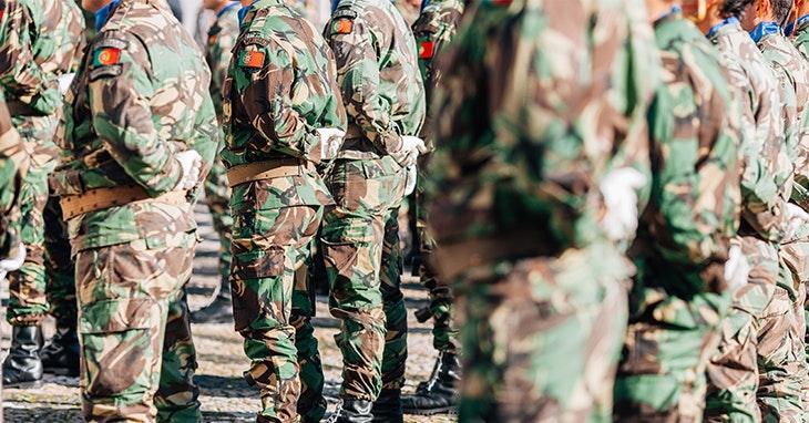 Exposição do Exército no nosso Centro.