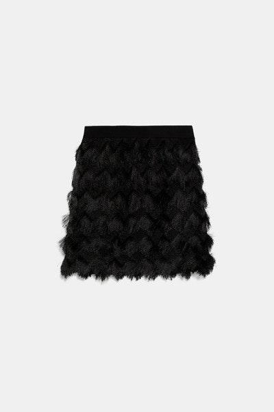 Saia franjas, Zara, 22,95€