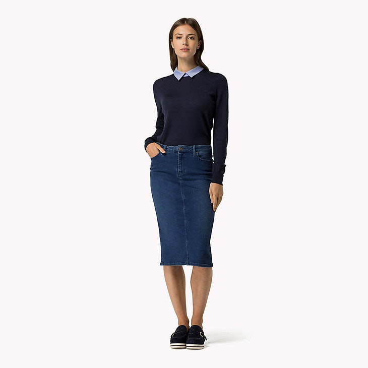 Las faldas midi, geniales para tus looks chic