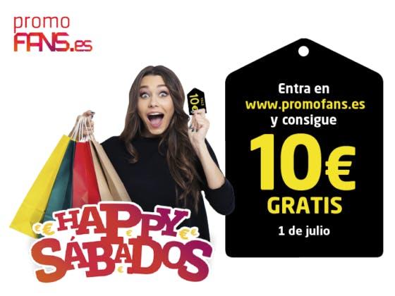¡Consigue 10€ gratis con los HAPPY SÁBADOS de Plaza Mayor!