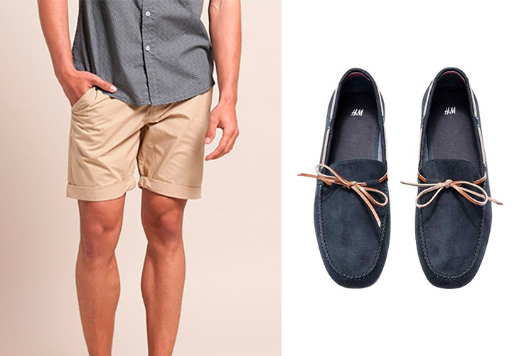 5 outfits con pantalones cortos hombre
