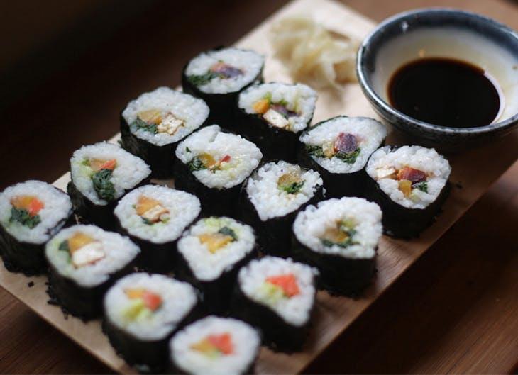 Sushi casero para vegetarianos