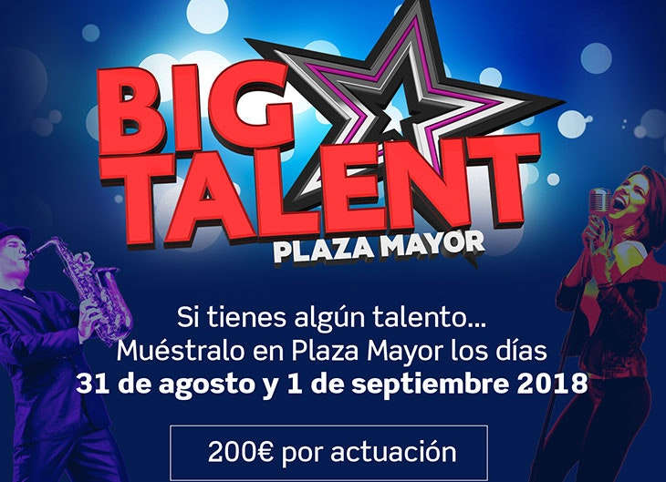 Concurso Big Talent en el Festival de Verano de Plaza Mayor