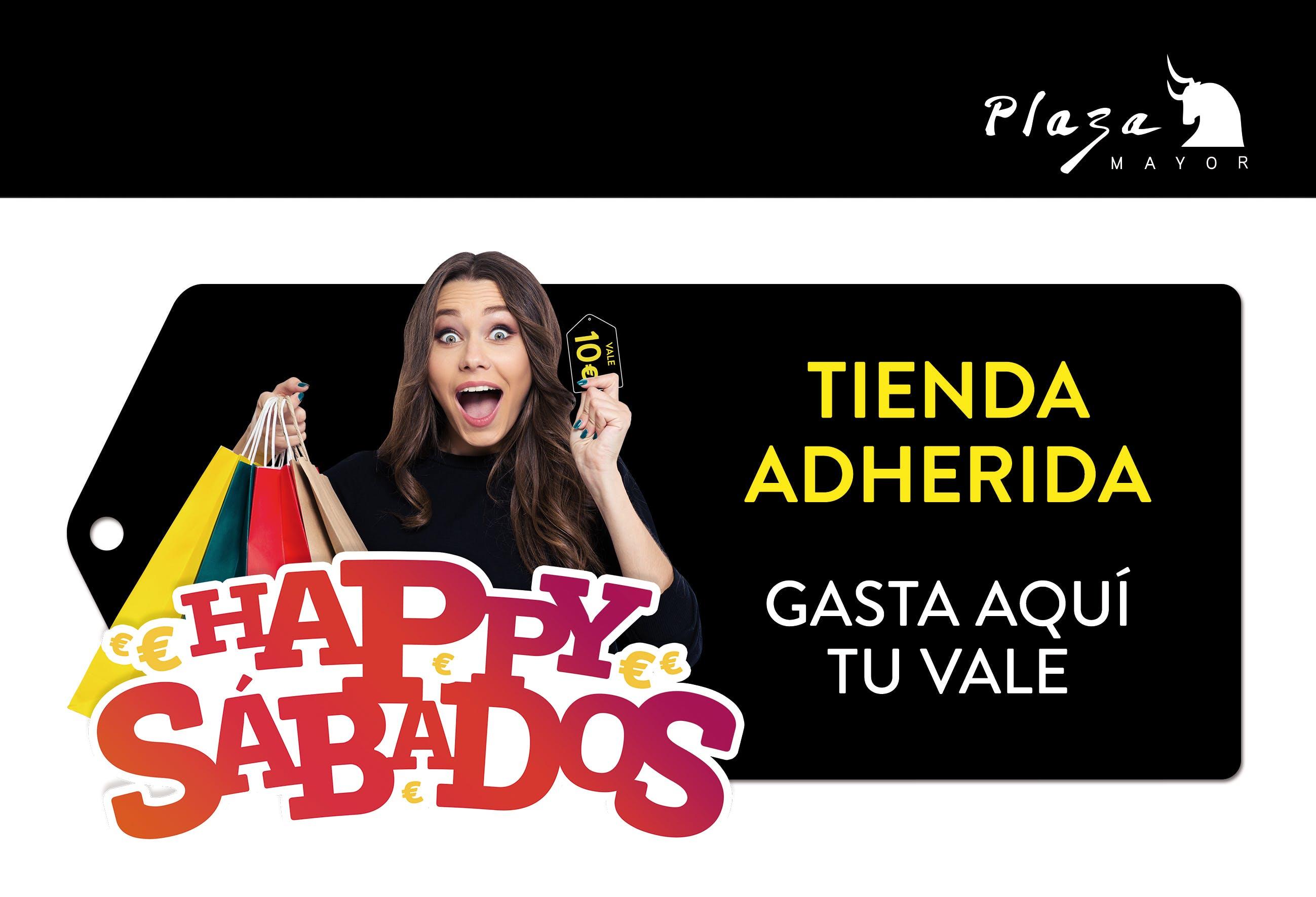 Vinilo de promoción Happy Sábados en Plaza Mayor