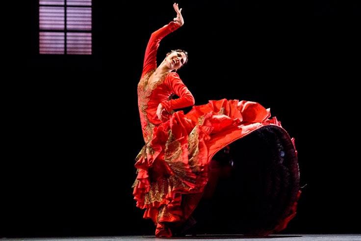 Zaguán y Alento del Ballet Nacional en el Teatro Cervantes de Málaga