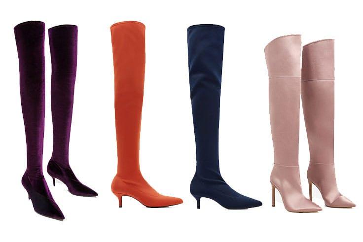 Tendencia de botas XXL de colores