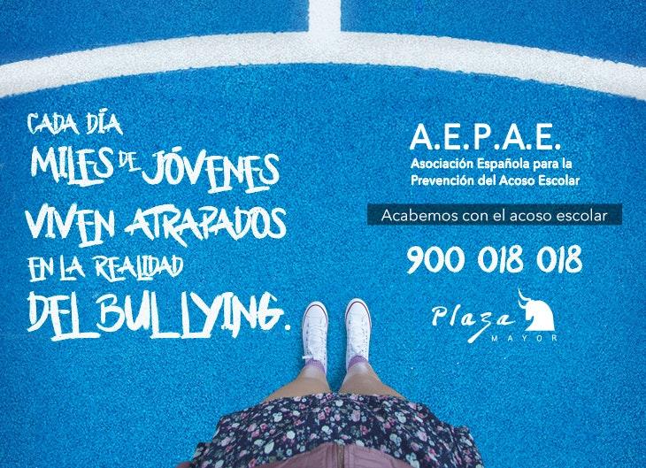 Plaza Mayor y la AEPAE juntos contra el acoso escolar