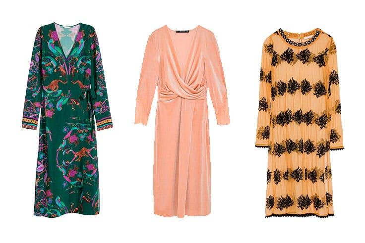 Los mejores looks con vestidos midi