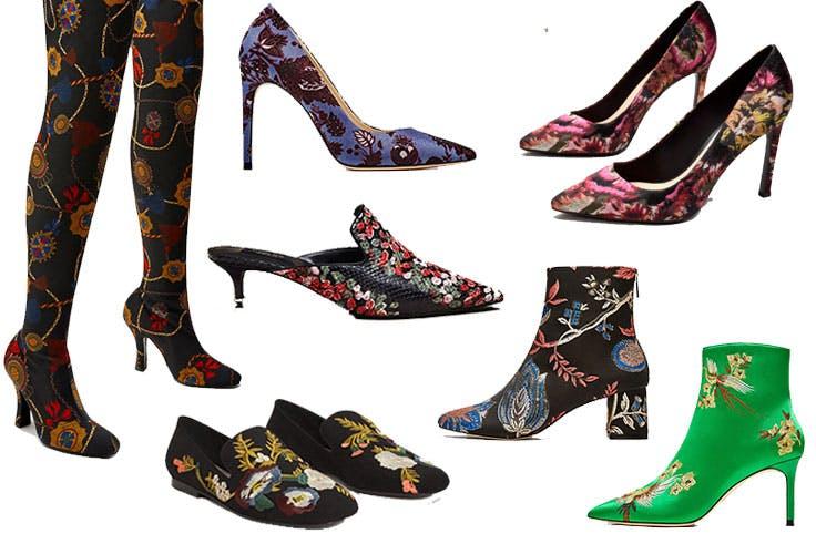 Botines bordados de moda esta temporada