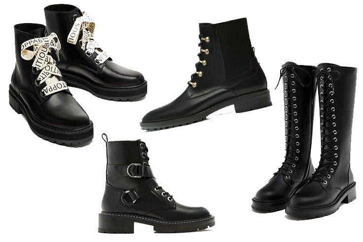 Botas militares de moda esta temporada