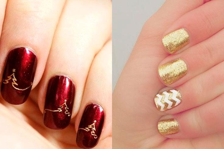 Decoración de uñas de Navidad
