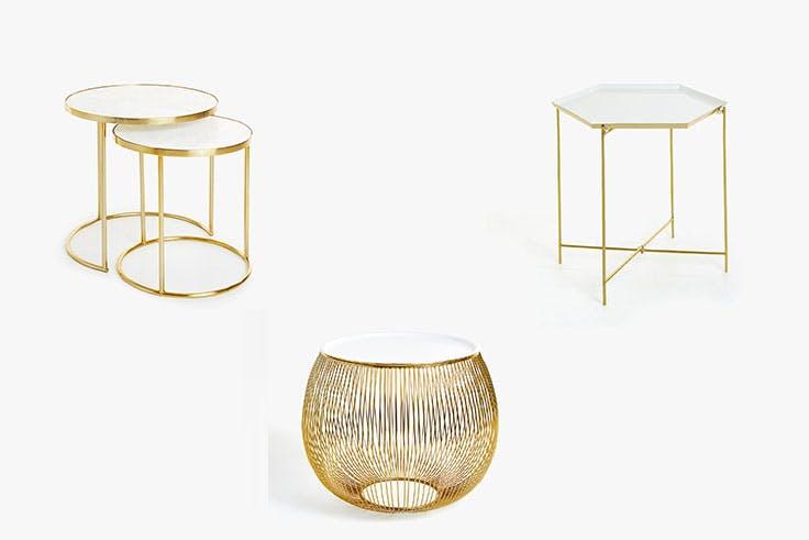 Tendencia de decoración con acero dorado