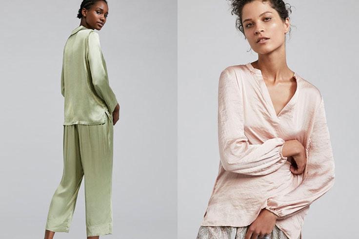 Pijamas satinados