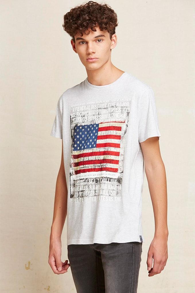 Camiseta con la bandera de USA