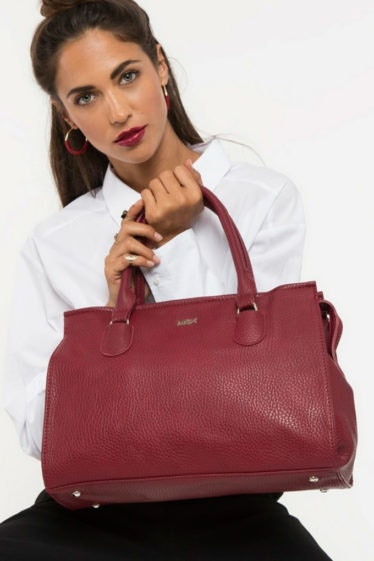 Bolso shopper granate