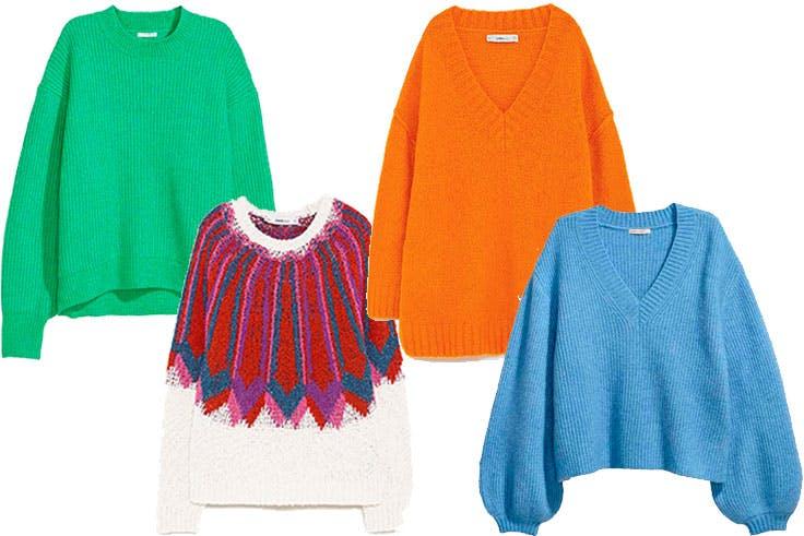Jersey oversize en colores intensos