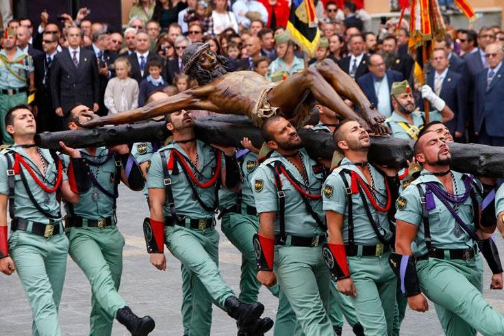 Desfile de los Legionarios en la Semana Santa de Málaga 2018