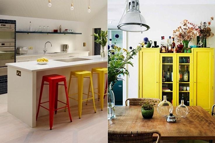 Decoración de cocinas de colores 2018