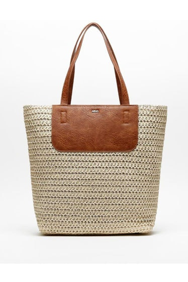 bolso shopper rafia