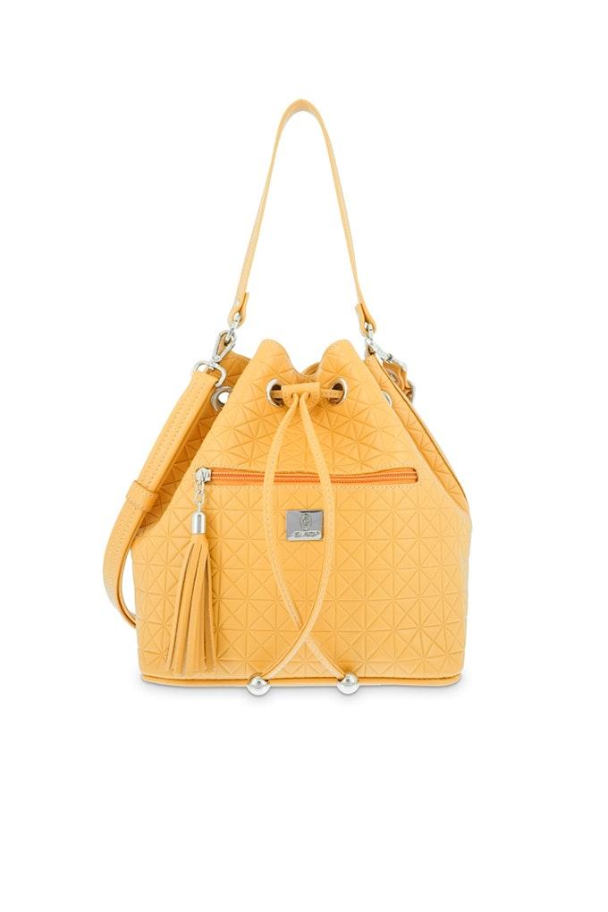 bolso saco amarillo