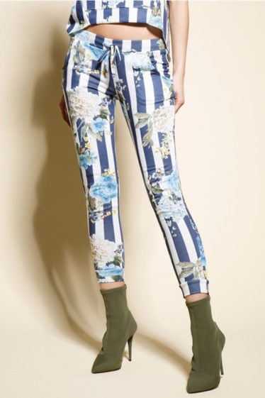 pantalon rayas flores