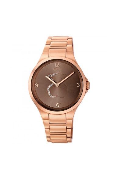 reloj acero rosado