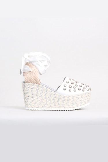 zapato cuña blanco