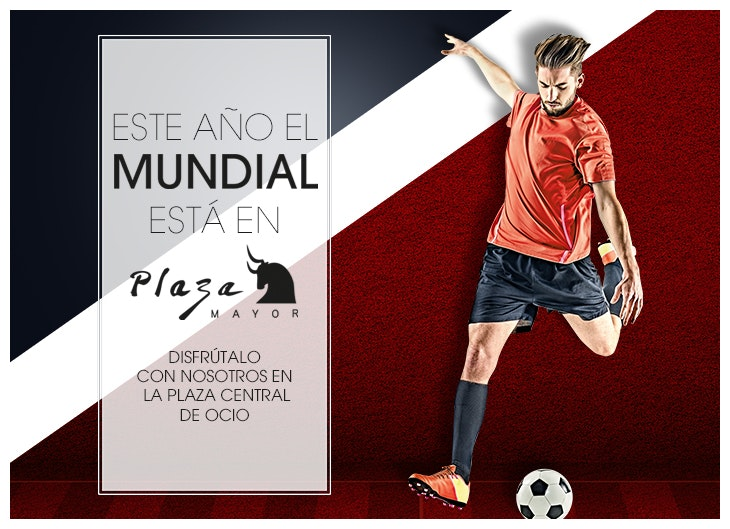 Mundial de fútbol en Plaza Mayor