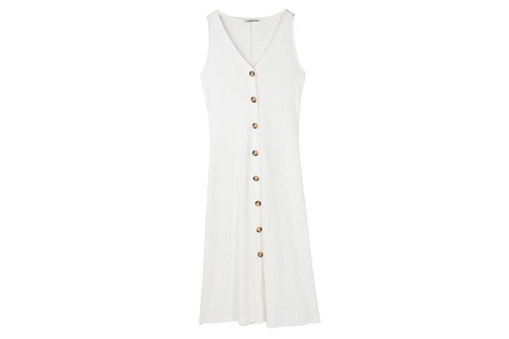 Vestidos largos blancos- vestido de Stradivarius