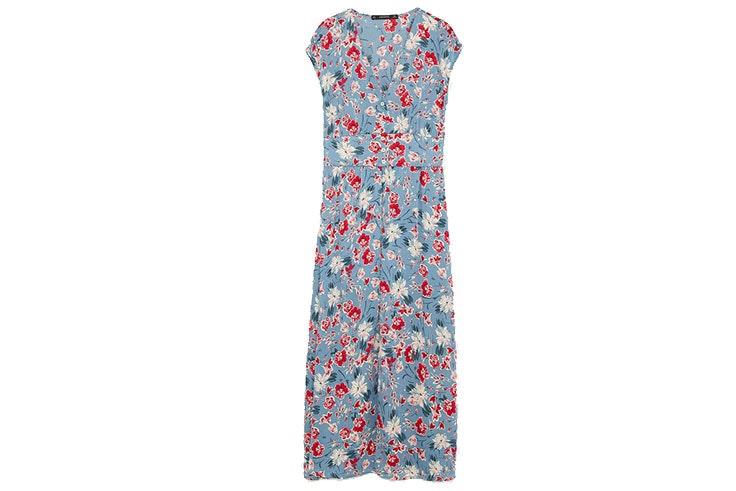 Vetsidos largos de flores- vestido de Zara