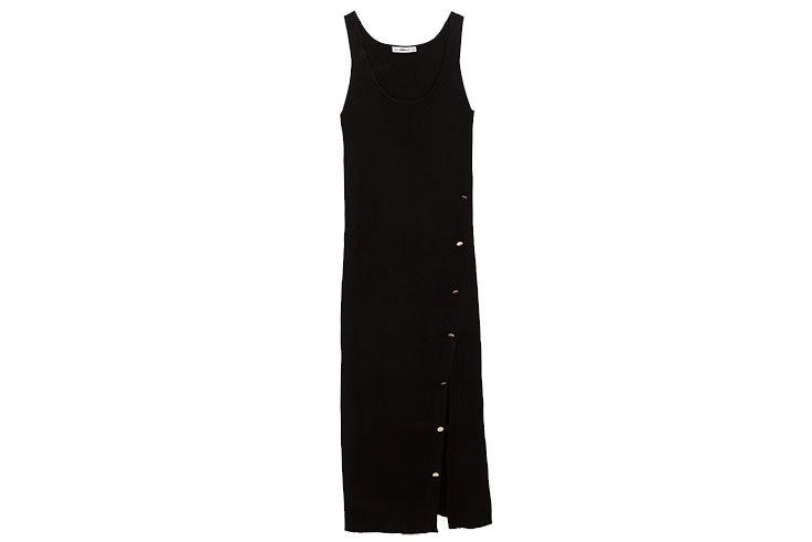 Vestidos largos de Zara- vestido negro de punto