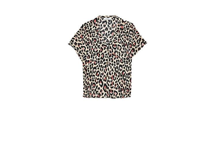 Animal print en Bershka camisa