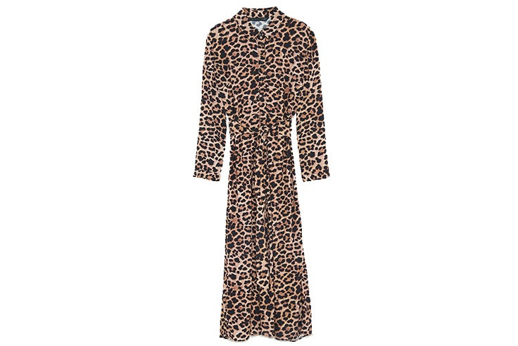 Animal print en Zara vestido largo