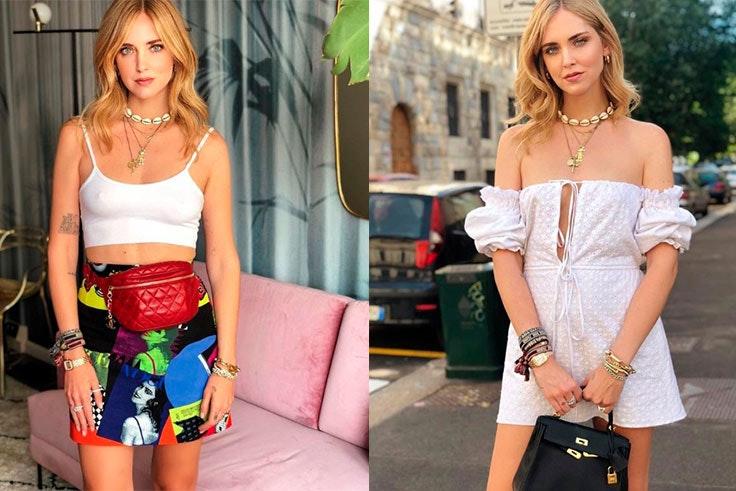 Tendencia de collares de conchas en Instagram Chiara Ferragni