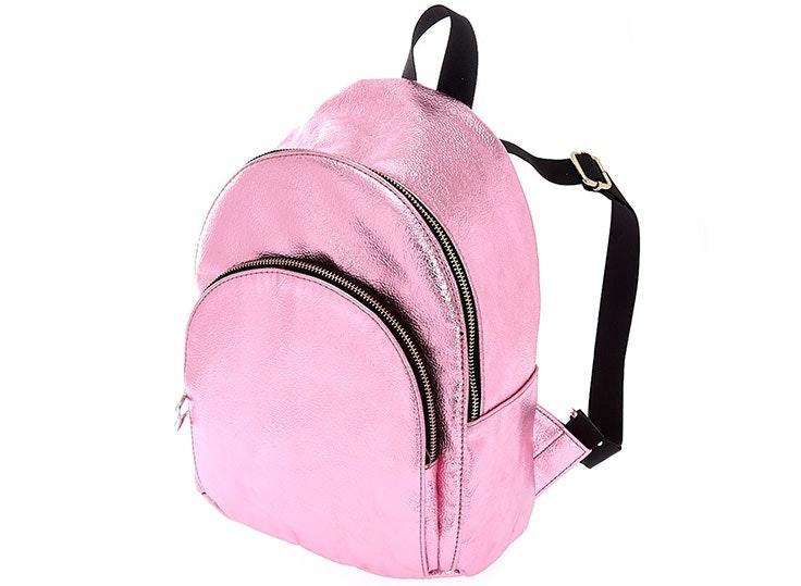 mochila rosa brillante