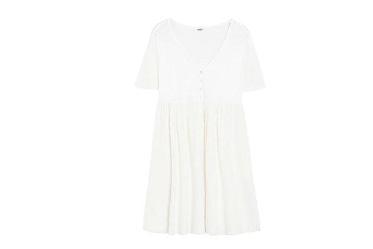 vestido-blanco-botones-pull-and-bear