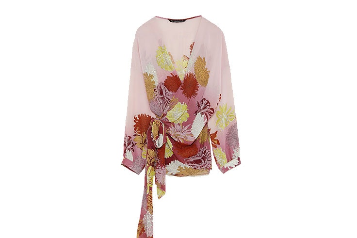Camisa tipo kimono