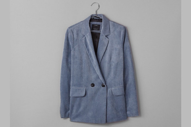 chaqueta-blazer-azul-pana-bershka