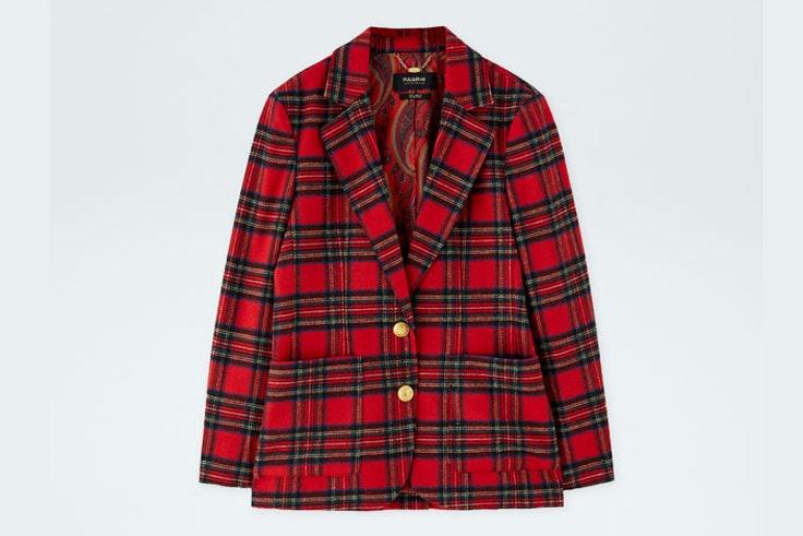 chaqueta-americana-roja-cuadros-escoceses-pull-and-bear
