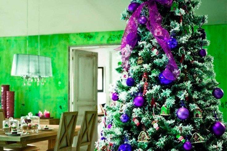 arbol navidad azul
