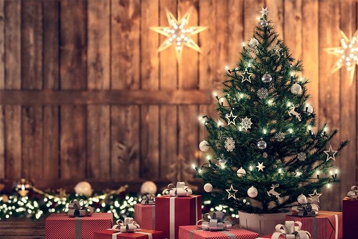 arbol navidad dorado
