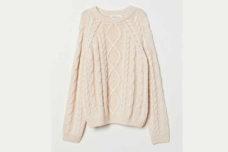 jersey-blanco-de-punto-beige-camille-charriere-hm