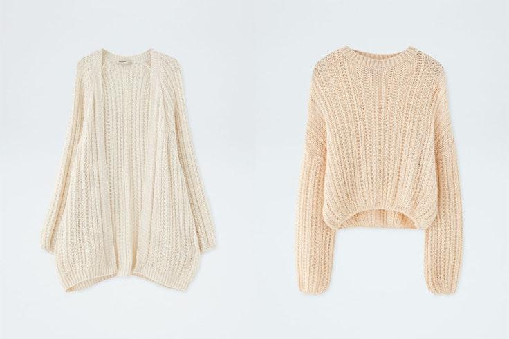 chaqueta-y-jersey-de-punto-blanco-pull-and-bear-conjunto