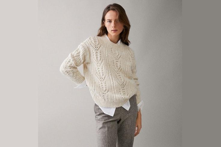 jersey-blanco-punto-massimo-dutti