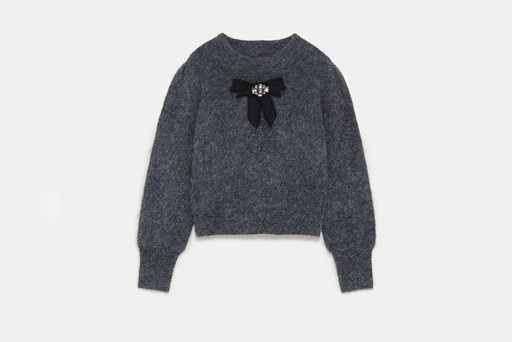 rebajas zara jerseis gris